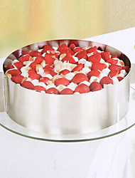 cheap -Stainless Steel Circle Of mousse Cake Every Circular Mould 6 Inch And 12 Inch Baking Tools Can Be Adjusted