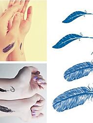 abordables -plumas de Halloween pegatinas tatuajes de moda a prueba de agua pegatinas pequeñas tatuajes temporales para el brazo de la manga arte corporal