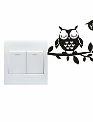 cheap -AYA™ DIY Wall Stickers Wall Decals, Lovely Funny Owl Pattern Light Switch Stickers