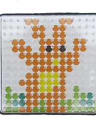 1PCS Template Clear Pegboard 7.5*7.5cm Square for 5mm Hama Beads Perler Beads Fuse Beads