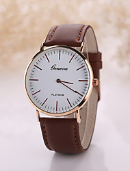 cheap -Men's Luxury Leather Band White Case Dress Style Watch Jewelry Wrist Watch Cool Watch Unique Watch