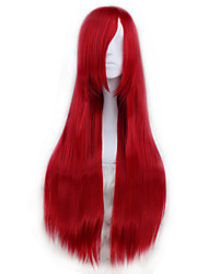 Parrucche Cosplay Cosplay Cosplay Rosso Lungo Anime Parrucche Cosplay 80 CM Tessuno resistente a calore Uomo / Donna