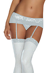 cheap -Lace Mesh Garters With G-String