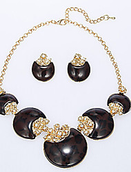 MISSING U Women Vintage / Party Gold Plated / Alloy / Rhinestone / Resin Necklace / Earrings Jewellery Sets