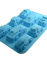 Silicone Car Shaped Chocolate Candy Fondant Cake Decor Silicone Molds DIY 8-Cavity Baking(Random Color)