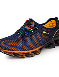 Da uomo scarpe da ginnastica Corsa Comoda Tulle Primavera Estate Autunno Inverno Sportivo Casual Lacci Piatto Blu scuro Royal Blue Piatto