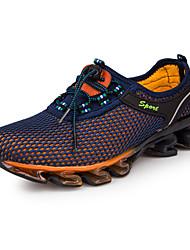 baratos -Homens Tule Primavera / Outono Conforto Tênis Corrida Azul Escuro / Azul Real