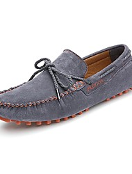 Men's Boat Shoes Moccasin Suede Spring Summer Fall Casual Outdoor Office & Career Dress Moccasin Dark Blue Gray Yellow 1in-1 3/4in