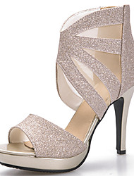 cheap -Women's Shoes Glitter Wedding Shoes/Stiletto Heel/Platform/Heels Sandals Party & Evening/Dress Black/Silver/Gold