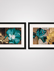 cheap -Framed Art Print Framed Canvas Framed Set Abstract Still Life Floral/Botanical Holiday Leisure Wall Art, PVC Material With Frame Home