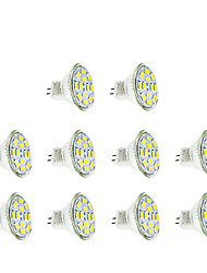 3W GU4(MR11) LED Spotlight MR11 12 SMD 5730 250 lm Warm White Cold White 3500/6000 K DC 12 V 10pcs