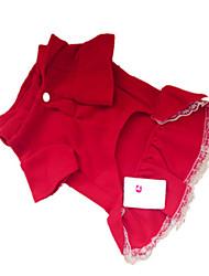 Chien Robe Vêtements pour Chien Rouge Foncé