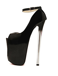 cheap -Women's Shoes Leatherette Spring Fall Stiletto Heel for Party & Evening Black Almond