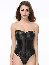 Beauty Hot Sale Body Shaper Long  Cheap Sexy Plus Size Black Leather Corset Top Waist Training Corsets