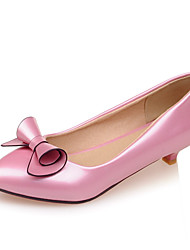 Women's Shoes Patent Leather Kitten Heel Heels / Pointed Toe Heels Dress Black / Pink / Red / White / Almond