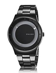 Недорогие -Мужской Наручные часы Кварцевый Нержавеющая сталь Группа Черный Серебристый металл
