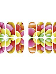 Недорогие -фрукты флуоресценция цветок и лося украшения ногтей