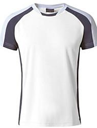 baratos -Homens Camiseta de Trilha Ao ar livre Respirável Redutor de Suor Camiseta Blusas Acampar e Caminhar Alpinismo Esportes Relaxantes