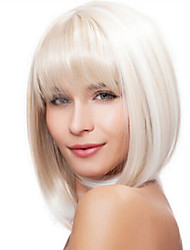 cheap -Fashion Natural Straight of High Quality White Color Synthetic Wigs