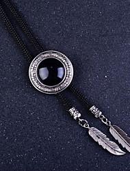 Collane a catena Collana Circolare A croce Di forma geometrica Gioielli Acciaio inossidabile Agata Originale Di tendenza EuropeoNero Blu