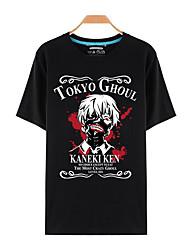 preiswerte -Inspiriert von Tokyo Ghoul Ken Kaneki Anime Cosplay Kostüme Cosplay-T-Shirt Druck Kurzarm Top Für Mann