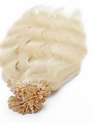 baratos -Neitsi Queratina / Ponta U Extensões de cabelo humano Liso Extensões de Cabelo Natural Cabelo Humano Mulheres - Loiro claro