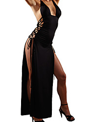 cheap -Women's Chemises & Gowns Nightwear,Sexy Polyester Spandex Black