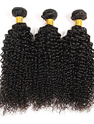 "cheap -3 Bundles Brazilian Kinky Curly Virgin Hair Weave 8""-30"" Unprocessed Hair Weft Extensions Natural Color 300g"