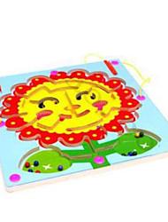 Недорогие -деревянная круговая орбита обработка магнитной щетки лабиринтов --sunflowers лабиринте
