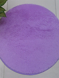 "cheap -Pure Colored Casual Style Polyester Fiber Material Non-Slip Thickened Circular Mat W23"" x L23"""