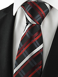 cheap -KissTies Men's Checked Tie Formal Suits Necktie For Wedding Party Holiday Business With Gift Box (2 Colors Available)