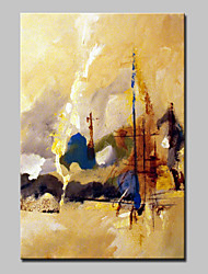 cheap -Hand Painted Canvas Oil Painting Modern Abstract Landscape Pictures Wall Art With Stretched Frame Ready To Hang