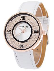 cheap -Women's Quartz Wrist Watch Casual Watch PU Band Fashion Black / White / Blue / Red / Rose