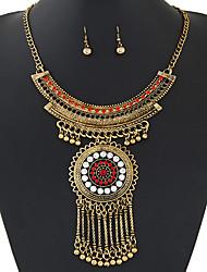 Feminino Conjunto de Jóias Colar / Brincos Vintage Moda Europeu Pedras preciosas sintéticas Imitações de Diamante Colares Brincos Colar