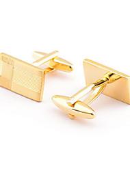 Argola Prendedor de Gravada Clipe de gravata Liga Botões de Punho Homens Dourado