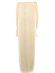 White Straight Blending Long Straight Hair Wig Ponytails 22/613