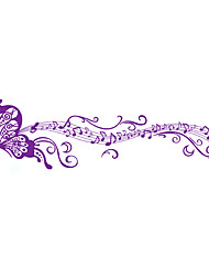 cheap -DIY Creative Purple Butterfly Music Note Wall Stickers Removable Living Room TV Background Art Wall Decals