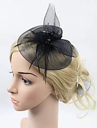 Women's British Style Feather Headpiece-Wedding / Special Occasion Fascinators / Hair Clip 1 Piece