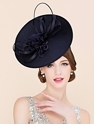 Ladies' Eye-catching Flax Headpiece -Wedding /Summer Cambric With Silk Flower
