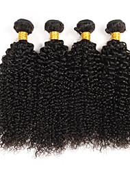 tanie -4 zestawy Włosy brazylijskie Kinky Curl Curly Weave 10A Włosy virgin Fale w naturalnym kolorze Ludzkie włosy wyplata Ludzkich włosów rozszerzeniach