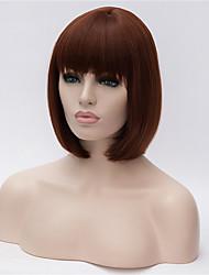 Kvinder Syntetiske parykker Ret Yaki Bob frisure Med bangs / pandehår Kostumeparyk
