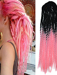 20inch Kanekalon Senegalese Braids Soft Dread Lock Synthetic Braiding Hair Black Ombre Pink