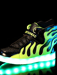 cheap -LED Light Up Shoes, Boys' Shoes Outdoor / Casual Silicone / Tulle Fashion Sneakers / Boat Shoes Blue / Green / White / Fuchsia