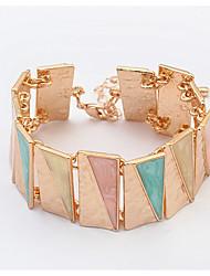 Dame Kæde & Lænkearmbånd Tennisarmbånd Mode Europæisk Akryl Legering Geometrisk form Trekantet Beige Blå Lys pink Gylden Regnbue Smykker