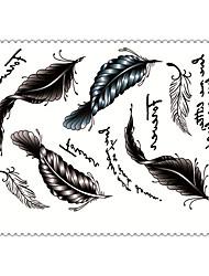 5 Tatuaggi adesivi Serie gioielli / Serie animali / Serie fiori / Serie totem / Altro / Cartoon SeriesNon Toxic / Fantasia / Waterproof /