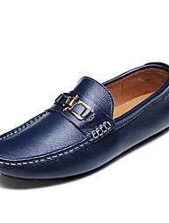 Loafers masculinos&Slip-ons primavera verão outono mocassim napa couro escritório ao ar livre&Carreira vestido casual sombrios