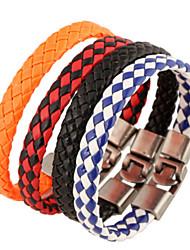 Муж. Кожаные браслеты Уникальный дизайн Мода бижутерия Кожа Сплав Бижутерия Бижутерия Назначение Для вечеринок Повседневные Спорт