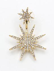 Серьги-слезки Стразы Имитация Алмазный Сплав Мода Простой стиль В форме звезды Золотой Бижутерия Для вечеринок Повседневные 1шт