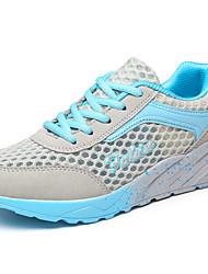 scarpe da corsa delle donne di Tulle piane del tallone di comfort appartamenti atletico blu / verde / colore rosa