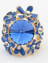 economico -charm small flowers diamond gemstone rings stile femminile classico